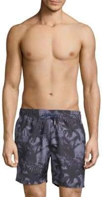 Slate & Stone Palm-Print Swim Shorts