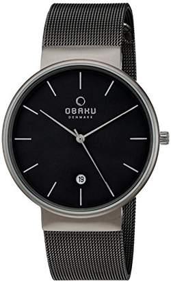 Obaku Men's Quartz Titanium and Stainless Steel Dress Watch