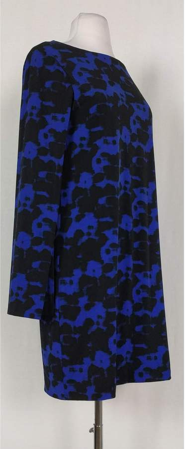 Nicole Miller- Blue & Black Printed Dress Sz S