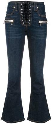 Unravel Project flared corset jeans