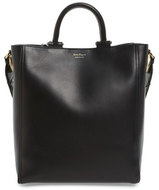 Salvatore Ferragamo Medium Paola Leather Tote - None $1,690 thestylecure.com