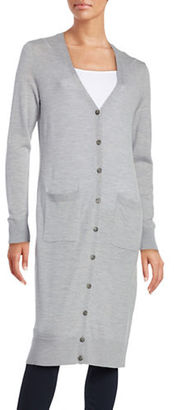 Lord & Taylor Merino Wool Long Cardigan $134 thestylecure.com