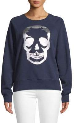 Zadig & Voltaire Skull Graphic Cotton Sweatshirt