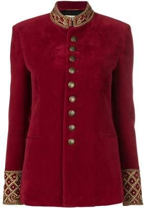 Saint Laurent embroidered officer jacket