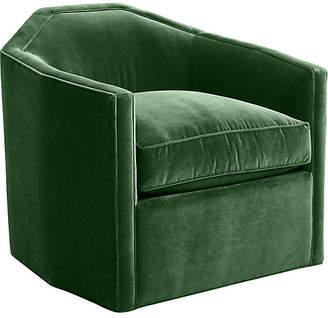 Mr & Mrs Howard Speakeasy Swivel Glider Chair - Emerald Velvet