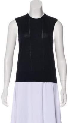 Lela Rose Wool Sleeveless Top
