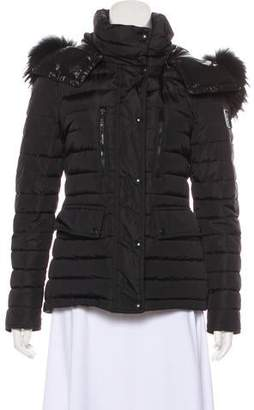 Belstaff Down Fur-Trimmed Jacket