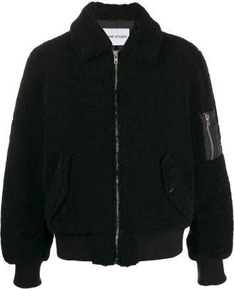 STAND STUDIO faux sheep fur jacket