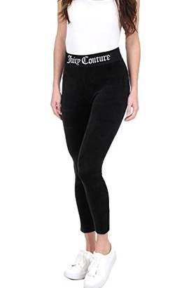 Juicy Couture Black Label Women's Stretch Velour Legging W/Juicy Logo Waistband