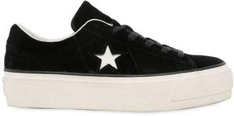 Converse One Star Platform Suede Sneakers