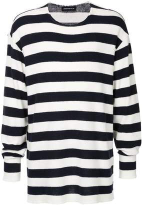 Undercover long striped jumper