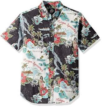 Reyn Spooner Men's Status Oceanic Weekend Wash Tailored Fit Hawaiian Shirt