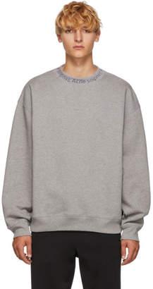 Acne Studios Grey Flogho Crewneck Sweatshirt