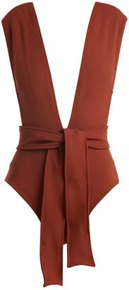 HAIGHT Waist-tie swimsuit