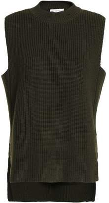 Amanda Wakeley Asymmetric Ribbed Merino Wool Sweater