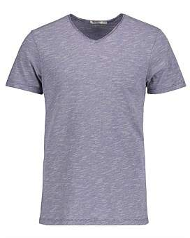 R & E RE: Stripe Raw V-Neck Slim-Fit T-Shirt