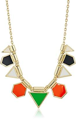 French Connection Polygon Frontal Fine Chain Necklace