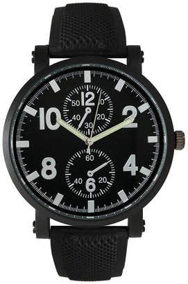 Olivia Pratt Mens Silver And Black Silicone Watch 26525Silver