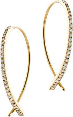 Lana Small Upside Down Flawless Diamond Earrings