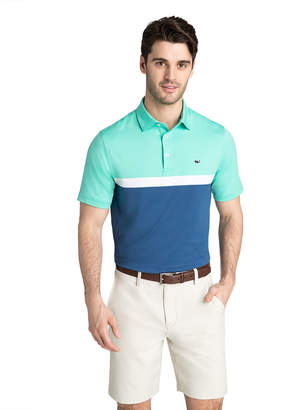 Vineyard Vines Mcgovern Engineer Stripe Sankaty Performance Polo