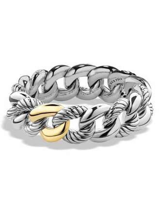 David Yurman Belmont Curb Link Bracelet with 18k Gold