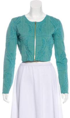 Sophie Theallet Textured Cropped Jacket