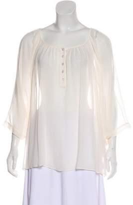 Lafayette 148 Short Sleeve Silk Blouse
