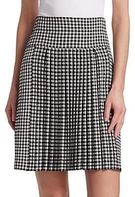 Akris Punto Women's Gingham Pleated Skirt