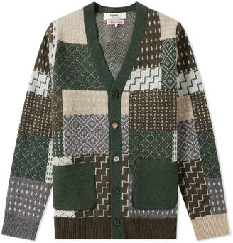Fdmtl FDMTL Patchwork Wool Cardigan