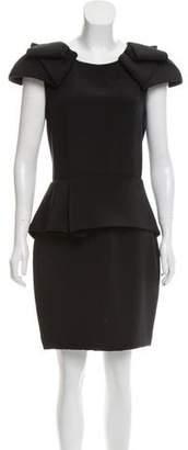 Marchesa Cap Sleeve Knee-Length Dress