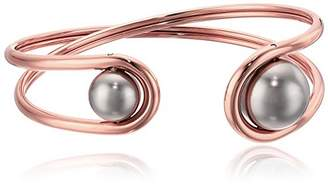 Michael Kors Modern Classic -Tone and Grey Pearl Flex Bracelet