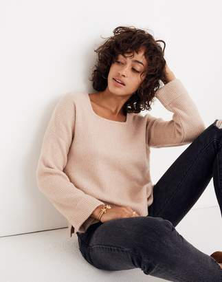 Madewell Square-Neck Pullover Sweater in Coziest Yarn