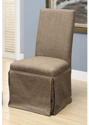 Furniture of America Dehlia Brown Faux Linen Dining Chair
