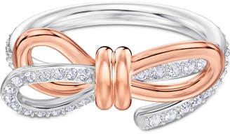 Swarovski Two-Tone Pave Bow Ring