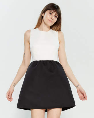 b1e533273b5 Kate Spade Black   Cream Bow Back Mini Dress