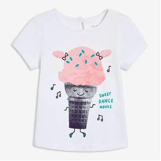 Joe Fresh Baby Girls' Graphic Tee, White (Size 6-12)