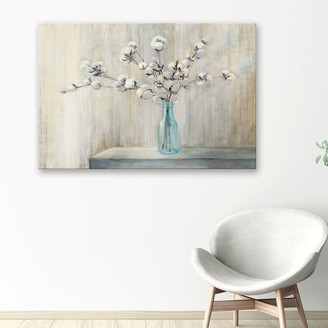Artissimo Designs Cotton BouquetCanvas Wall Art