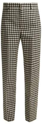 Balenciaga Gingham Wool Trousers - Womens - Black White