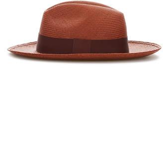 Cubavera Brick Panama Hat with Burgundy Band