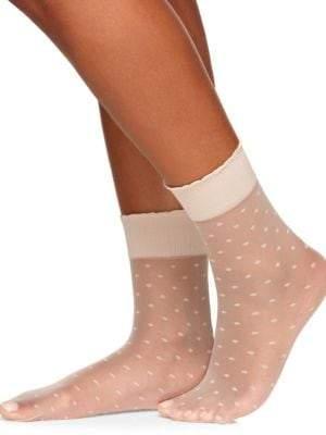 Berkshire Sheer Dot Ankle Socks