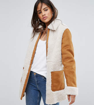 Asos Tall TALL Faux Shearling Coat