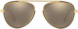 Versace Ve2193 56 Gold Square Sunglasses