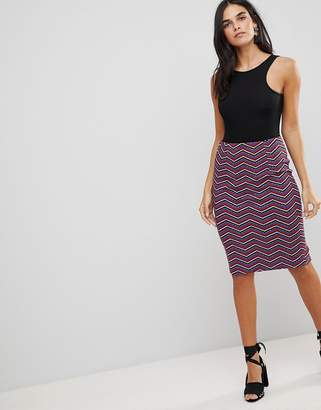 Traffic People Textured Printed Pencil Skirt