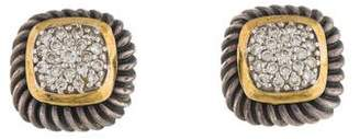 David Yurman Diamond Pavé Cable Stud Earrings