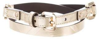 Burberry Metallic Skinny Belt