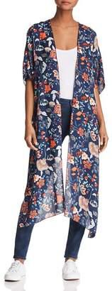 Sage the Label Deep Sea Floral Kimono