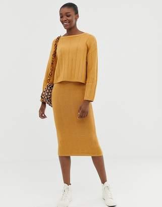 Asos (エイソス) - Asos Design ASOS DESIGN eco two-piece chunky midi skirt