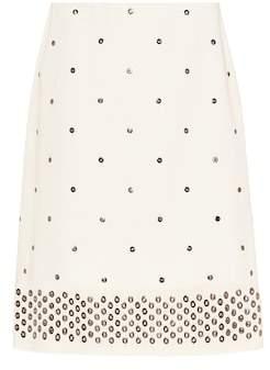 Bottega Veneta Studded cotton skirt