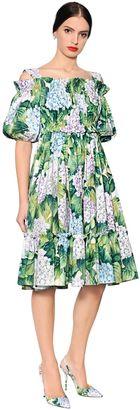 Hydrangea Cotton Poplin Peasant Dress $1,575 thestylecure.com