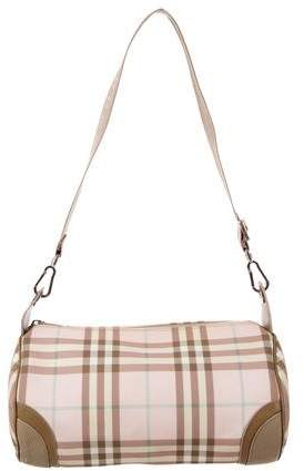 Burberry Leather-Trimmed Nova Check Bag